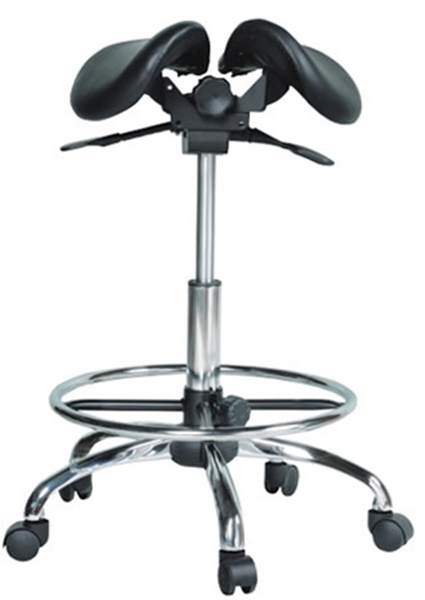 Kanewell Twin Adjustable Saddle Stool with Footring